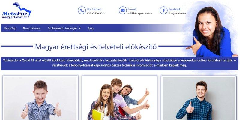 Tanári weboldal